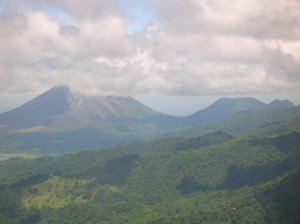 Volcan Arenal - the grand prize at the end of the Walkathon at Monteverde Friends School