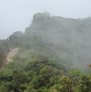 Walking through the cloud forest to Arenal Volcano in Costa Rica