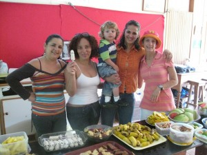 Preparing food for bake sales and events is a big parent volunteer contribution at Monteverde Friends School