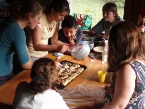 Mini-course elective students learn to cook at Monteverde Friends School in Costa Rica