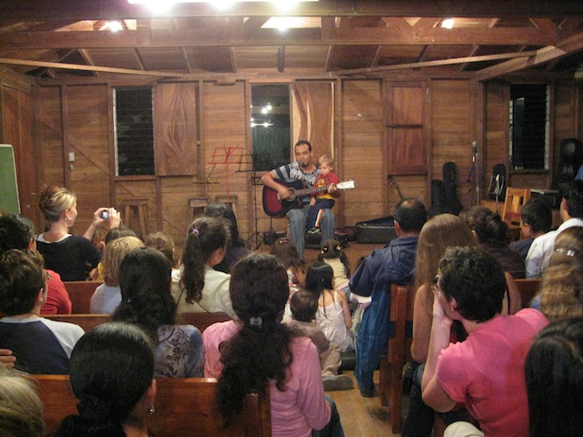 Coffee house - open mic talent night at Monteverde Friends School