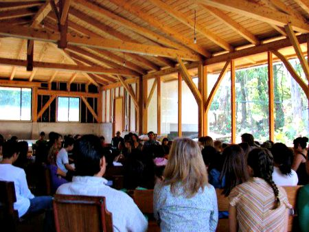 Quaker meeting for worship in Monteverde Friends School.