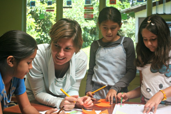 Intern Erika fulfills internship responsibilities at Monteverde Friends School in Costa Rica