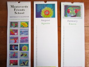 Birthday calendars for sale in the MFS store