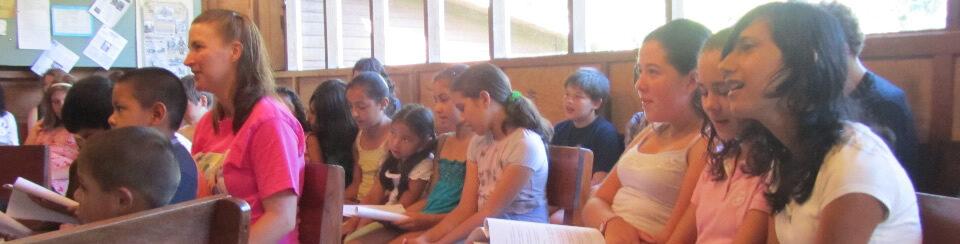 Students singing meeting