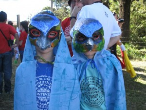 Primary and elementary students at Monteverde Friends School dressing up