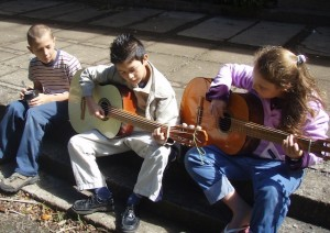 Guitar and music electives at Monteverde Friends School in Costa Rica