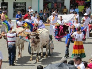 Independence Day parade by students of Monteverde Friends School in Costa Rica