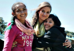 International students in the study abroad program at Monteverde Friends School make friends for life.