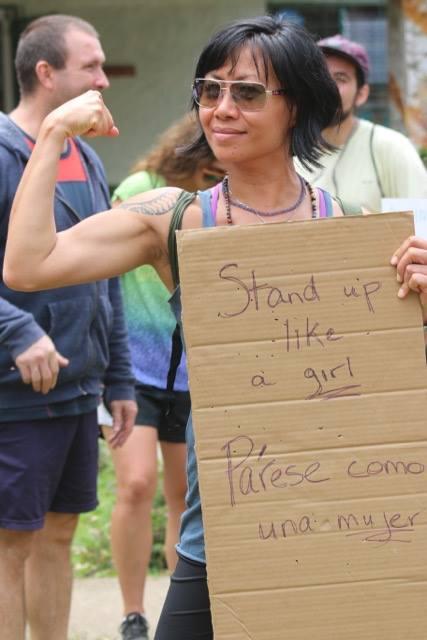 Nicolette Smith in Women's March in Monteverde