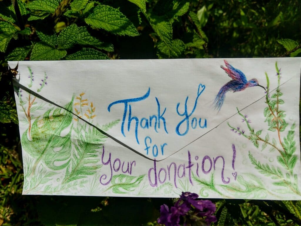 Thank you for your Donation Envelope